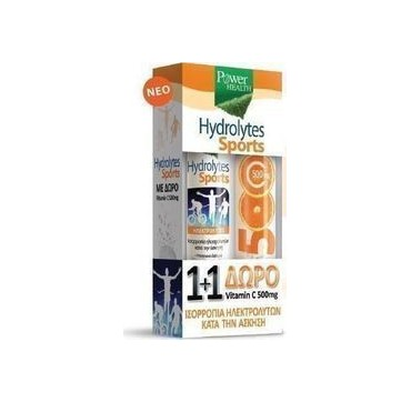 POWER HEALTH HYDROLYTES SPORTS + VITAMIN C 500mg 2 x 20 tabs