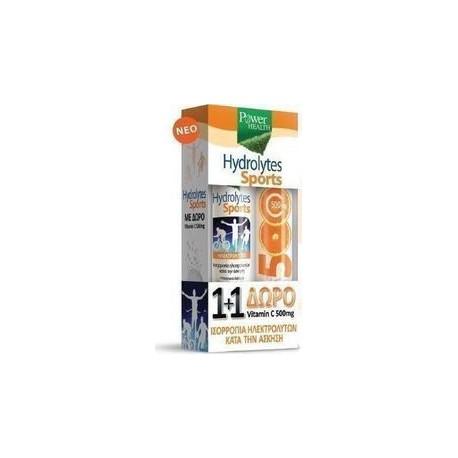 POWER HEALTH HYDROLYTES SPORTS + VITAMIN C 500mg 2 x 20 tabs
