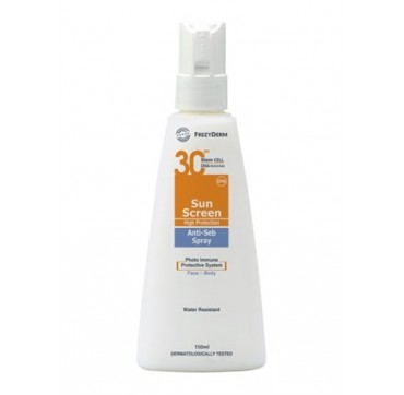 Frezyderm Sun Screen Anti-seb Spray Face & Body Αντιηλιακό Προσώπου/σώματος Spf30 150ml