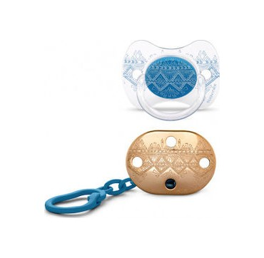 SUAVINEX HC PHYSIO ΠΙΠΙΛΑ ΣΙΛΙΚΟΝΗΣ +4/18Μ ΜΕ ΚΛΙΠ (DARK BLUE) 1 τμχ