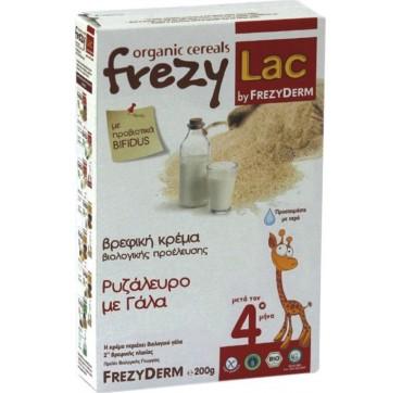 Frezyderm Frezylac Cereal Βρεφική Βιολογική Κρέμα Ρυζάλευρο Με Γάλα Και Βανίλια 200g