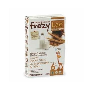 Frezyderm Frezylac Cereal Βρεφική Βιολογική Κρέμα Φαριν Λακτε Με Δημητριακά Και Γάλα 200g