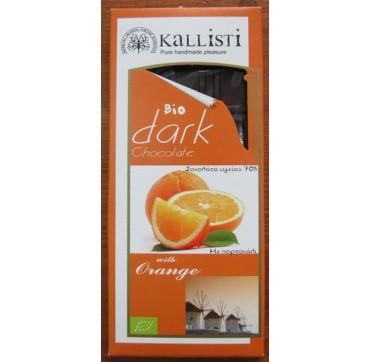 KALLISTI Βιολογική Σοκολάτα Υγείας ~ Πορτοκάλι 50 γρ.