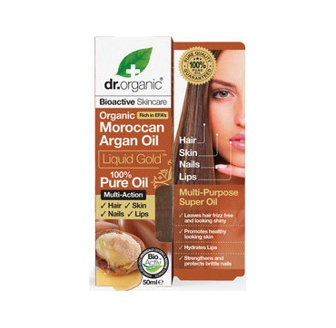DR ORGANIC ORGANIC MOROCCAN ARGAN OIL LIQUID GOLD 100% 50ml