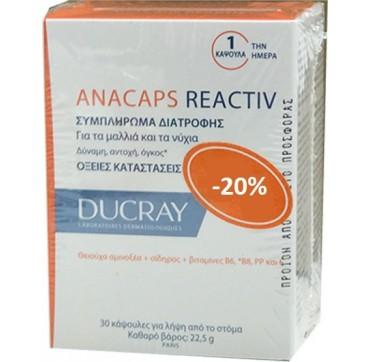 DUCRAY ANACAPS REACTIV 2 x 30 caps (PROMO PACK - 20% )