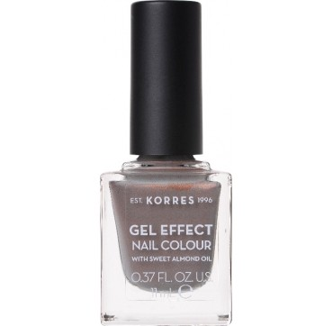 Korres 70 Holographic Ash Gel Effect Nail Colour With Sweet Almond Oil 11ml