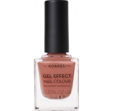 KORRES 40 WINTER NUDE GEL EFFECT NAIL COLOUR WITH SWEET ALMOND OIL 11ml