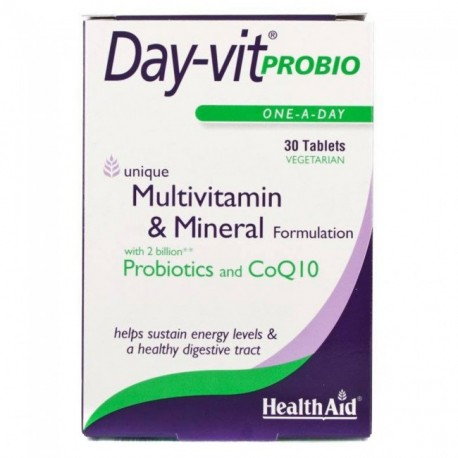 Healthaid Day-vit Probio Multivitamin & Mineral Formulation With 2 Billion Probiotics And Coq10 One-a-day 30tabs