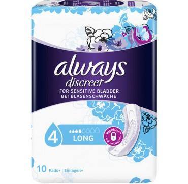 Always Discreet For Sensitive Bladder Long 10τμχ