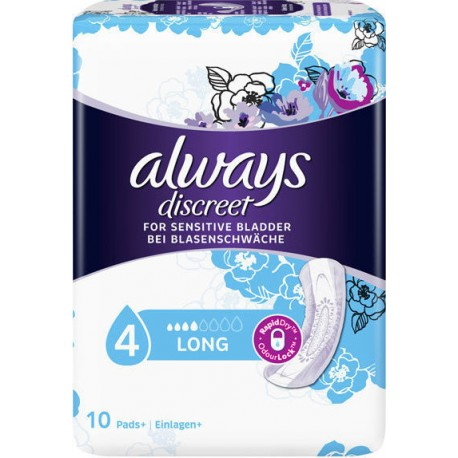 ALWAYS DISCREET FOR SENSITIVE BLADDER LONG 10τμχ