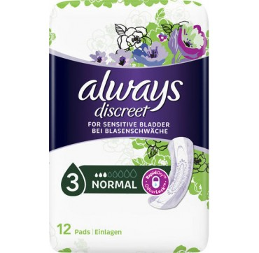ALWAYS DISCREET FOR SENSITIVE BLADDER NORMAL 12τμχ