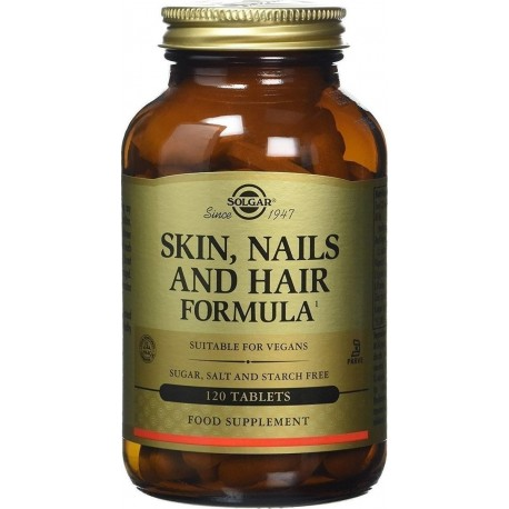 SOLGAR SKIN, NAILS AND HAIR 120tabs