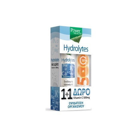 POWER HEALTH HYDROLYTES + VITAMIN C 500mg 2x20 efferv. tabs