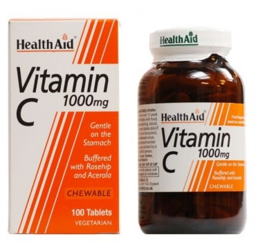 Health Aid Vitamin C 1000mg Chewable 100 Tablets