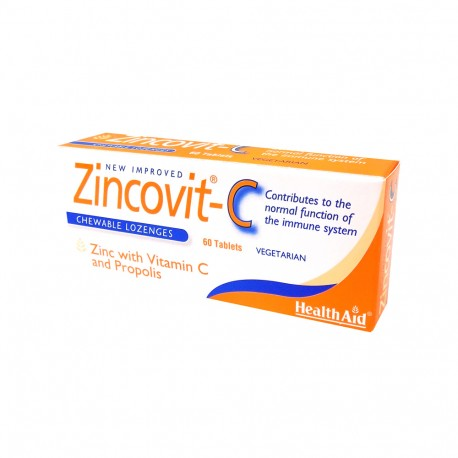 Health Aid Zincovit C 60 Chew.Tablets
