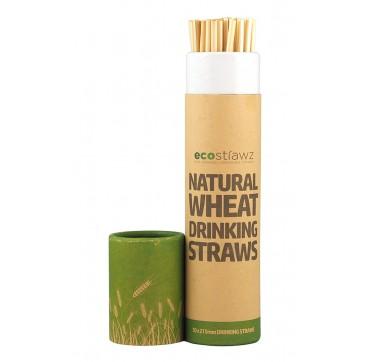 Ecostrawz Οικολογικά Βιοδιασπώμενα Καλαμάκια Από Σιτάρι Reusable Biodegradable Straws 215mm 50τεμ.