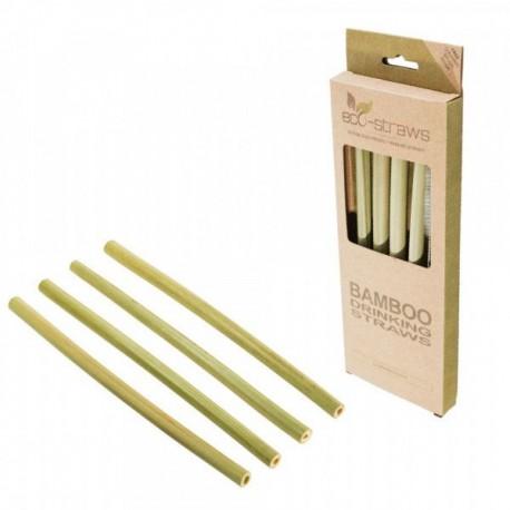 Ecostrawz Natural Bamboo Drinking Straws 4τεμ.