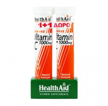 HEALTH AID VITAMIN-C 1000mg 20effer.tabs 1+1 ΔΩΡΟ