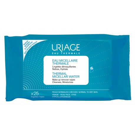 URIAGE Thermal Micellar Water Make-Up Remover Wipes 25 τμχ.