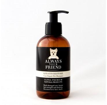 ALWAYS YOUR FRIEND Keratin Restore Shampoo Σαμπουάν Αποκατάστασης με Κερατίνη (για σκύλους) 250ml