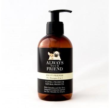 Always Your Friend Fruit Friends Shampoo 2 In 1 Σαμπουάν Λάμψης & Ενυδάτωσης (για Σκύλους) 250ml
