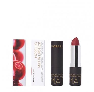 KORRES Morello Matte Lipstick 59 Burgundy Red 3,5g