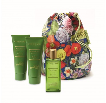 L'ERBOLARIO RABARBARO BEAUTY BAG TRIO 3τεμ.