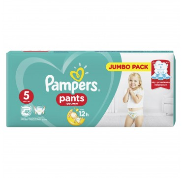 PAMPERS PANTS JUMBO PACK No 5 (12-17 kg) 48τεμ.