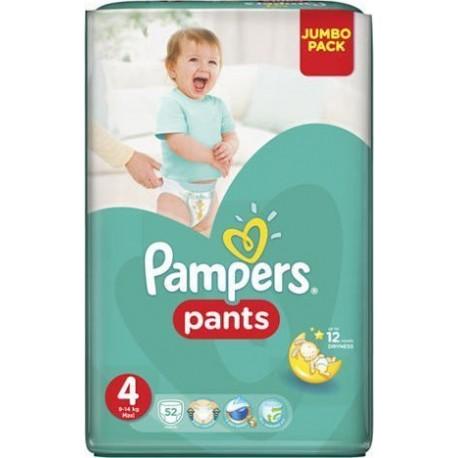 PAMPERS PANTS JUMBO PACK No 4 (9-15 kg) 52τεμ.