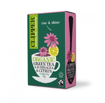 CLIPPER ORGANIC GREEN TEA ECHINACEA & CITRUS 20x2g