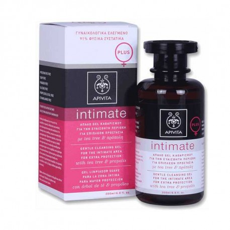 Apivita Intimate Plus Gel Καθαρισμού Με Tea Tree & Πρόπολη 200ml