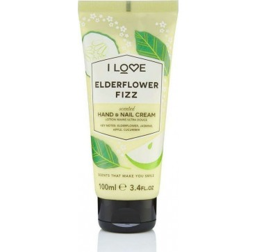I LOVE COSMETICS SCENTED HAND & NAIL CREAM ELDERFLOWER FIZZ100ml