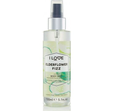 I LOVE COSMETICS SCENTED BODY MIST ELDERFLOWER FIZZ 150ml