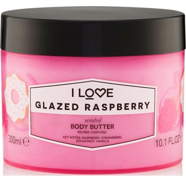 I LOVE COSMETICS SCENTED BODY BUTTER GLAZED RASPBERRY 300ml