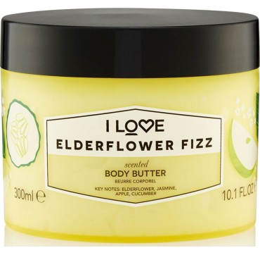 I LOVE COSMETICS SCENTED BODY BUTTER ELDERFLOWER FIZZ 300ml