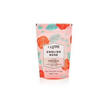 I LOVE COSMETICS SCENTED BATH SALTS ENGLISH ROSE 500g