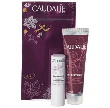 CAUDALIE Winter Duo Set The Des Vignes Hand Cream 30ml & Lip Conditioner 4,5g
