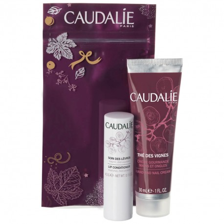 CAUDALIE WINTER DUO HAND AND NAIL CREAM ROSE DE VIGNE 30ml + LIPS CONDINTIONER 4,5g