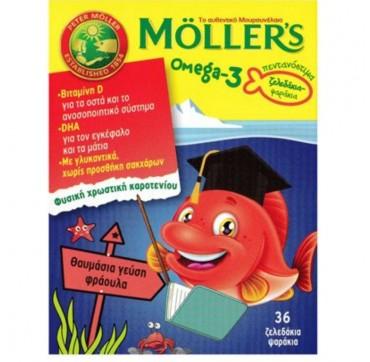 MOLLER'S OMEGA 3 ΖΕΛΕΔΑΚΙΑ-ΨΑΡΑΚΙΑ ΜΕ ΓΕΥΣΗ ΦΡΑΟΥΛΑ 36τμχ.