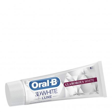 ORAL-B 3D WHITE LUXE GLAMOROUS WHITE ΟΔΟΝΤΟΚΡΕΜΑ ΑΠΑΛΗ ΜΕ ΤΟ ΣΜΑΛΤΟ 75ml