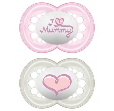 Mam Πιπίλα Σιλικόνη I Love Mummy & Daddy 6+ Μηνών (170s) 2τεμ