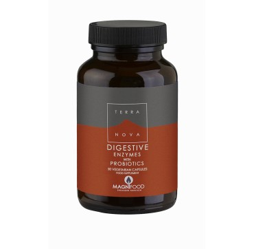 TERRANOVA DIGESTIVE ENZYMES WITH PROBIOTICS 50vcaps