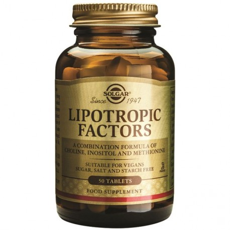 SOLGAR LIPOTROPIC FACTORS 50tabs