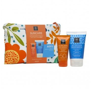 APIVITA SUNCARE PROMO PACK ANTI-WRINKLE FACE CREAM SPF50 (50ml) & ΔΩΡΟ AFTER SUN COOLING GEL 100ml
