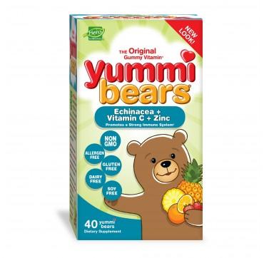 YUMMI BEARS ECHINACEA+ VITAMIN C+ ZINC 40ΤΕΜ.