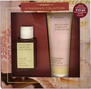 KORRES A FRAGRANCE COLLECTION BELLFLOWER, TANGERINE, PINK PEPPER EAU DE TOILETTE 50ML + ΔΩΡΟ ΓΑΛΑΚΤΩΜΑ ΣΩΜΑΤΟΣ BODY MILK 125ML