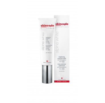 SKINCODE ESSENTIALS ALPINE WHITE BRIGHTENING PROTECTIVE SHIELD SPF50 HIGH PROTECTION 30ML