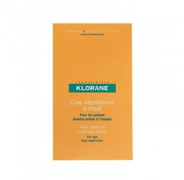 Klorane Cold Wax Strips With Sweet Almond (legs) Αποτριχωτικες Ταινίες 6tmx