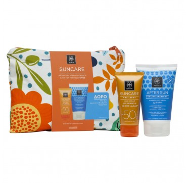 APIVITA SUNCARE PROMO PACK SENSITIVE FACE CREAM SPF50 (50ml) & ΔΩΡΟ AFTER SUN COOLING GEL 100ml