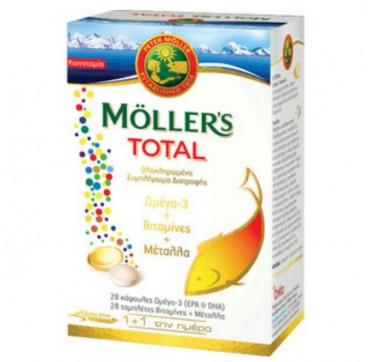 MOLLER'S TOTAL ΩΜΕΓΑ 3 (28caps) ΒΙΤΑΜΙΝΕΣ & ΜΕΤΑΛΛΑ (28tabs)